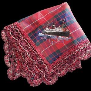 Vintage RMS LETITIA Scottish tartan handkerchief